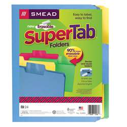 Smead 24Pk Supertab Letter Size Folders Assorted C, SMD10480