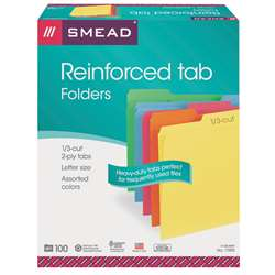 Smead 100Bx Asst Colors Letter Size File Folders, SMD11993