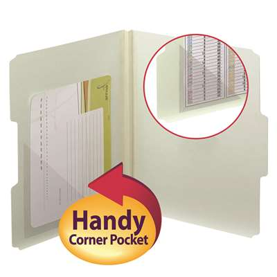 Smead 100Ct 4X4 Self Adhesive Poly Pockets Corner , SMD68140