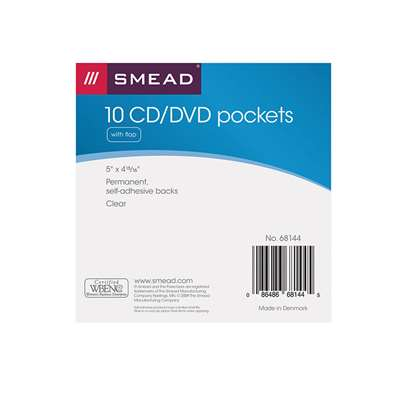 Cd DVD Pocket Self Adhesive Poly Pockets, SMD68144