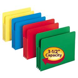 Poly File Pockets 11-3/4W X 9-1/2H 4 Colors By Smead Manufacturing Company