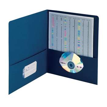 Smead 25Ct Dark Blue Standard Two Pocket Folders, SMD87854