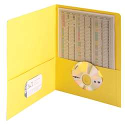 Smead 25Ct Yellow Standard Two Two Pocket Folders, SMD87862