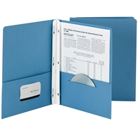 Smead 25Ct Sky Blue Two Pocket Folders With Fasten, SMD88021