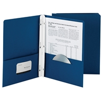 Smead 25Ct Dark Blue Two Pocket Folders With Faste, SMD88022