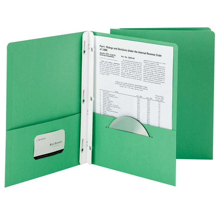 Smead 25Ct Dark Green Two Pocket Folders With Fast, SMD88023