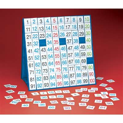 Hundred Board Large Table Top Pocket Chart By Smethport Specialty