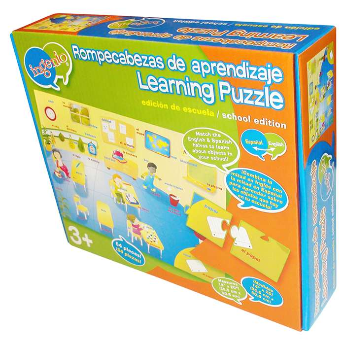 About School Bilingual Learning Puzzle By Smart Play