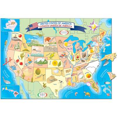 Usa Map Puzzle By Smart Play