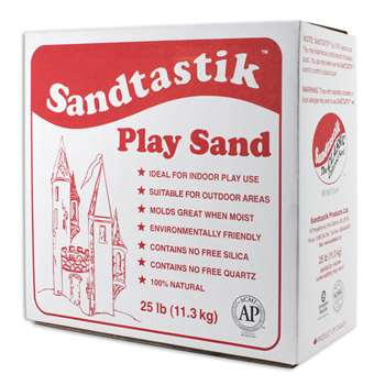 Sandtastik White Play Sand 25Lb Box By Sandtastik