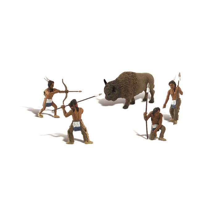 Native American Hunt Scene Setters By Woodland Scenics