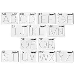 Beginning Alphabet Templates Upper Case By School Rite