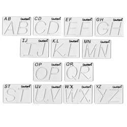 Shop Beginning Alphabet Templates Transitional Uppercase - Sr-028 By School Rite