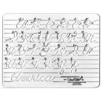 Template Cursive Uppercase 1 Letters By School Rite