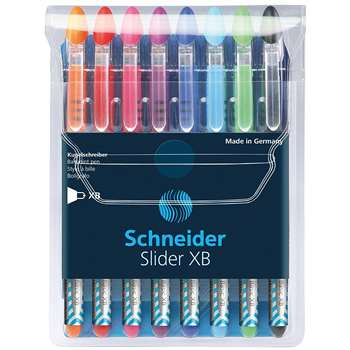 Schneider 8 Color Assortment Slider Xb Ballpoint Pens By Stride