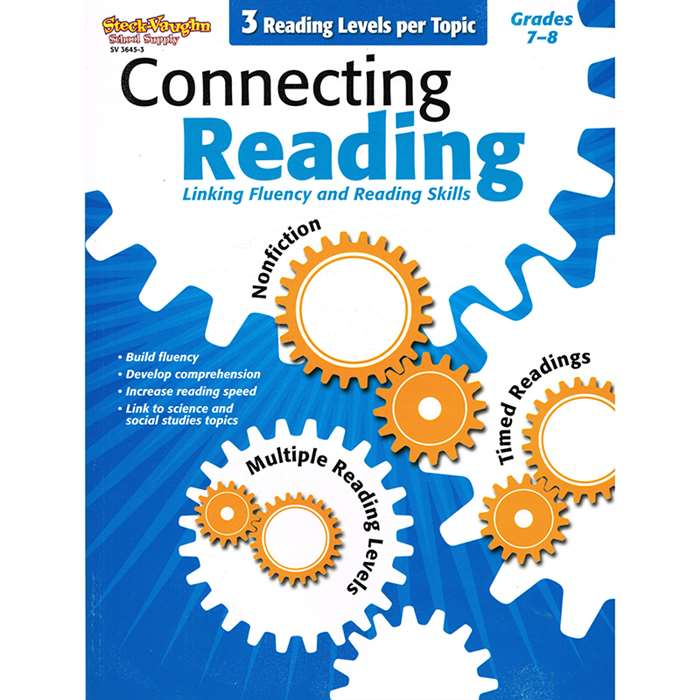 Connecting Reading Grades 7-8 By Harcourt School Supply