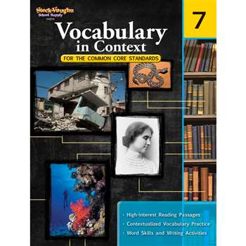 Gr 7 Vocabulary In Context For The Common Core Standards By Houghton Mifflin