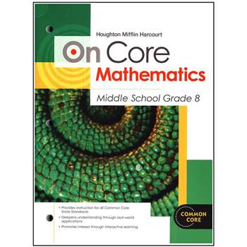 On Core Mathematics Bundles Gr 8 By Houghton Mifflin