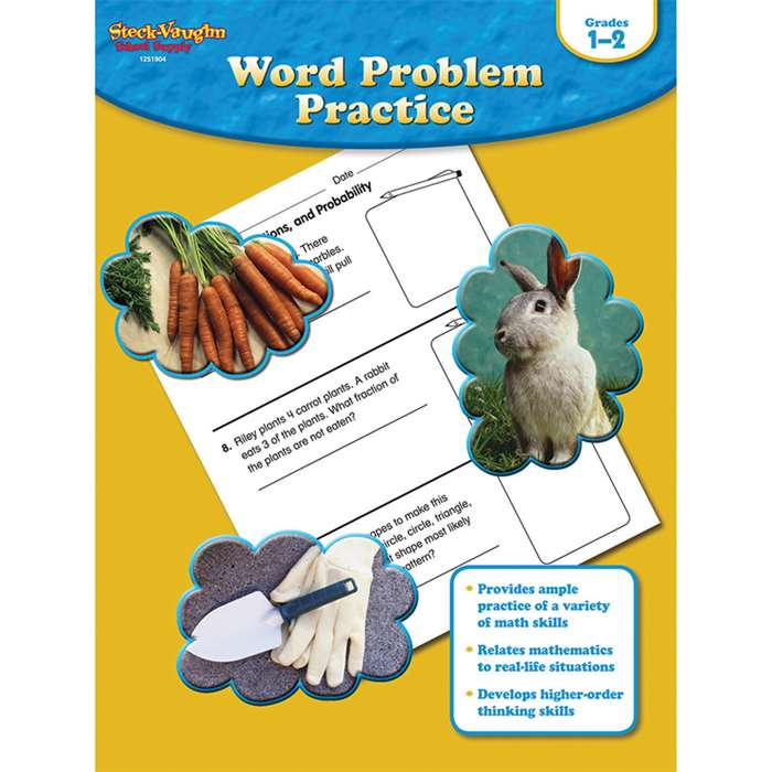 Word Problem Practice Gr 1-2 By Houghton Mifflin