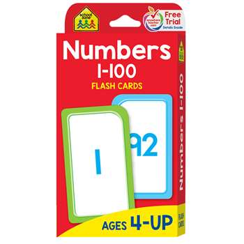 Numbers 1-100 Flash Cards By School Zone Publishing