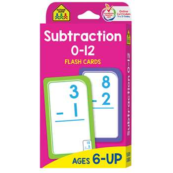 Subtraction 0-12 Flash Cards By School Zone Publishing