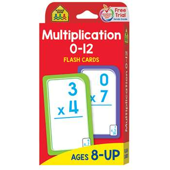Multiplication 0-12 Flash Cards By School Zone Publishing