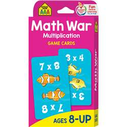 Math War Multiplication Game Cards By School Zone Publishing