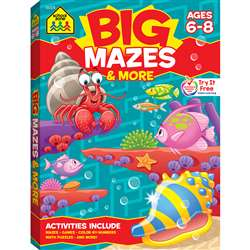 Big Mazes & More Workbook By School Zone Publishing