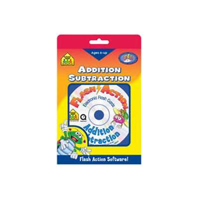 Flash Action Addition/Subtraction Ages 6 & Up Software - Szp08403 By School Zone Publishing