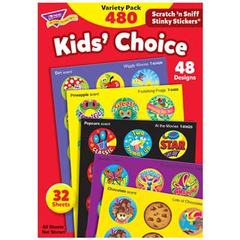 Stinky Stickers Round Super 465/Pk Saver By Trend Enterprises