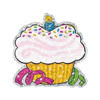 Sparkle Accents 24/Pk Birthday Cupcakes 5 X 5 By Trend Enterprises
