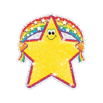Sparkle Accents Rainbow Star 24/Pk 5 X 5 By Trend Enterprises