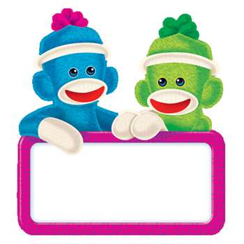 Sock Monkey Signs Mini Accents By Trend Enterprises