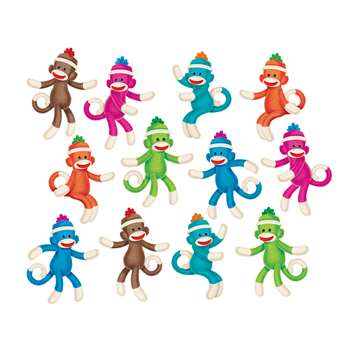 Sock Monkeys Solids Accents Variety Pack By Trend Enterprises