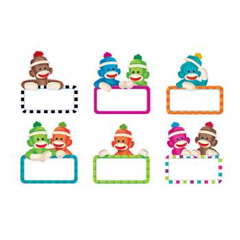 Sock Monkey Signs Accents Variety Pack By Trend Enterprises