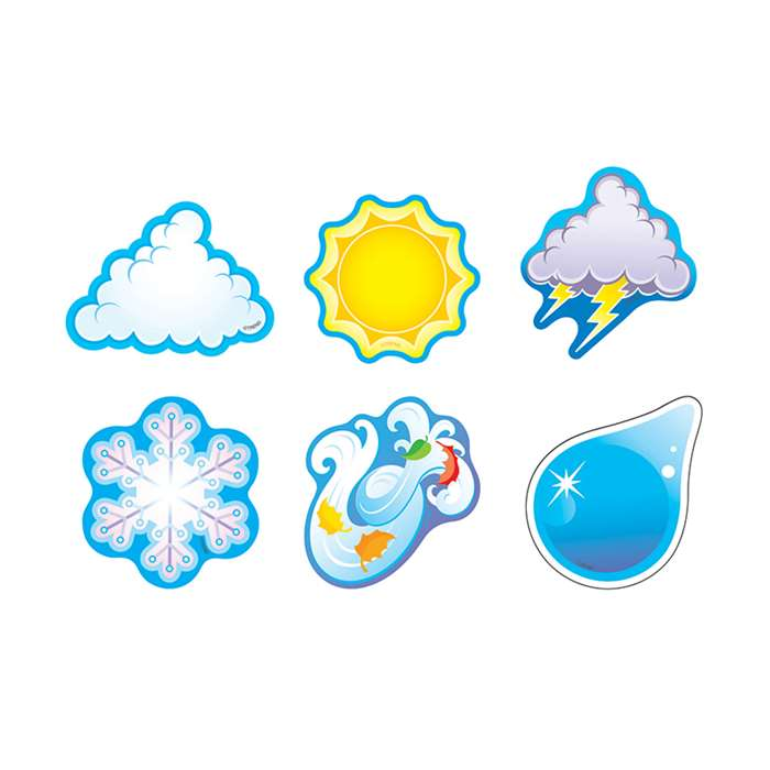 Weather Symbols/Mini Variety Pk Mini Accents By Trend Enterprises
