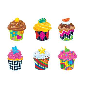 Bake Shop Cupcakes Mini Accents Variety Pack By Trend Enterprises