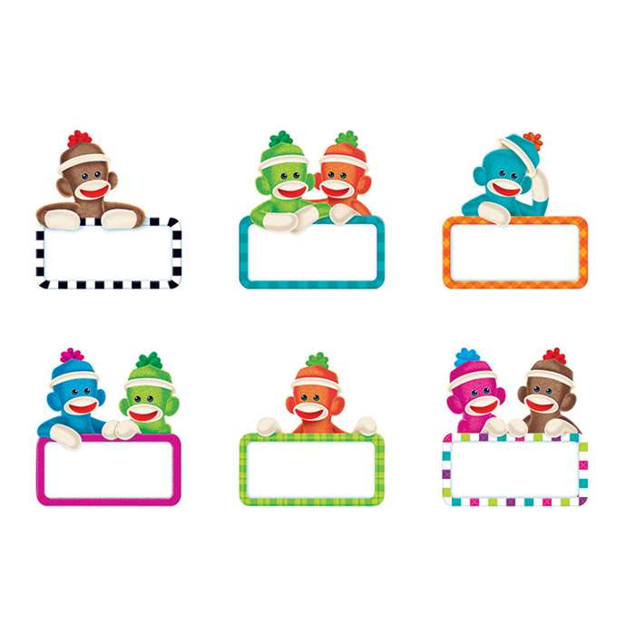 Sock Monkeys Signs Mini Accents Variety Pack By Trend Enterprises