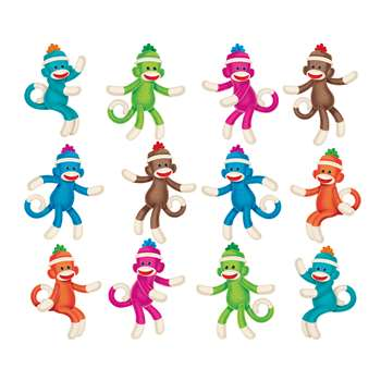 Sock Monkeys Mini Accents Variety Pack By Trend Enterprises