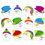 Smiling Snowmen Classic Accents Variety Pk By Trend Enterprises