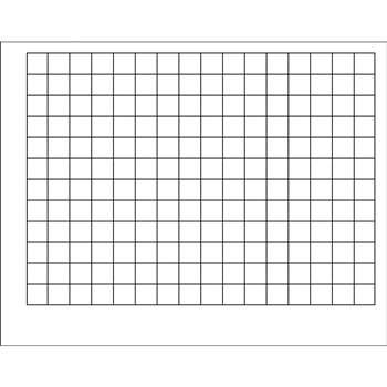 Wipe-Off Chart Graphing Grid 1-1/2 Inch Squares 22 X 28 By Trend Enterprises