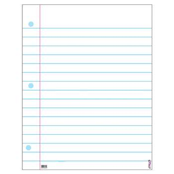 Wipe-Off Chart Notebook Paper 22 X 28 By Trend Enterprises