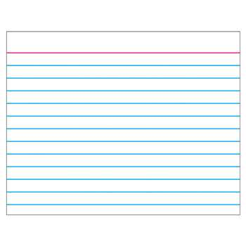 Wipe-Off Chart Index Card 22 X 28 By Trend Enterprises