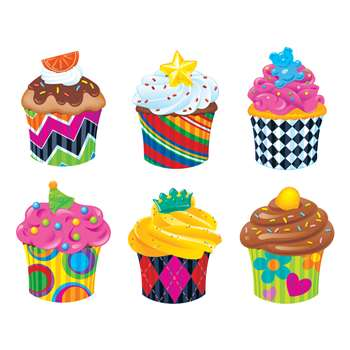 Bake Shop Cupcakes Classic Accents Variety Pack By Trend Enterprises