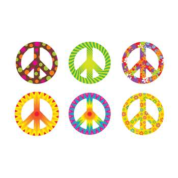 Peace Signs Patterns Classic Accents Variety Pack By Trend Enterprises
