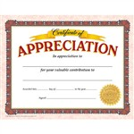 Certificate Of Appreciation By Trend Enterprises