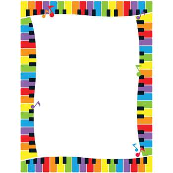 Colorful Keyboard Paper By Trend Enterprises