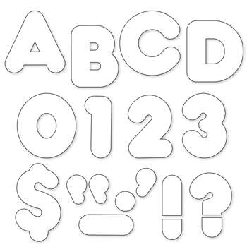 Ready Letters 4 Inch Casual White By Trend Enterprises