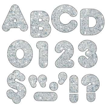 Ready Letters 4 Casual Silver Sparkle By Trend Enterprises
