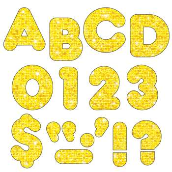 Ready Letters 4 Casual Yellow Sparkle By Trend Enterprises